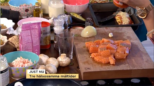 TV 4 Nyhetsmorgon och produkter från inreda.com i studion