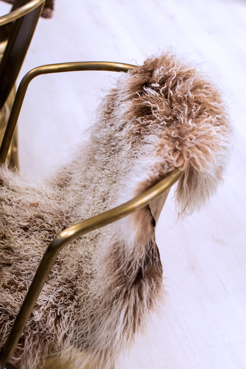 isländska långhåriga fårskinn